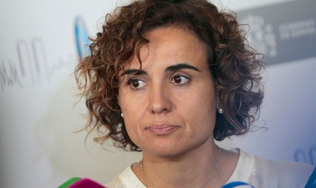 Las proclamas 'antiseparatistas' de la ministra en un acto sanitario