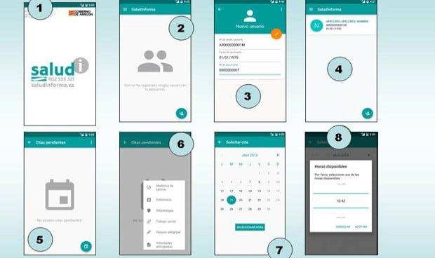 Los aragoneses ya pueden pedir el cambio de cita a través una 'App'