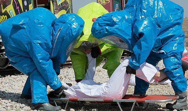 Los enfermeros españoles se entrenan ante un ataque terrorista químico