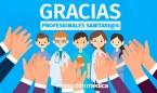 Los españoles envían más de mil mensajes de agradecimiento a los sanitarios
