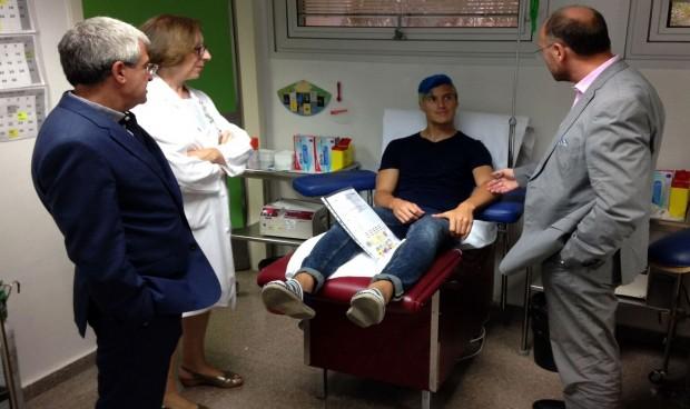 Los jugadores del Leganés pasan el reconocimiento médico en el Severo Ochoa