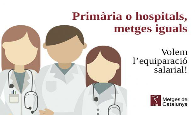 Los médicos catalanes inician una campaña por la igualdad de salarios
