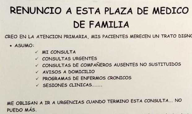 """Los médicos de Familia explotan: """"Renuncio a mi plaza, no puedo más"""""""