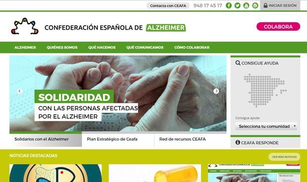 Los pacientes con alzhéimer renuevan su página web corporativa