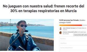Los pacientes logran 12.000 firmas contra el concurso de TRD de Murcia