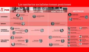 Los sanitarios del PSOE eligen 'bando' en la carrera por liderar el partido