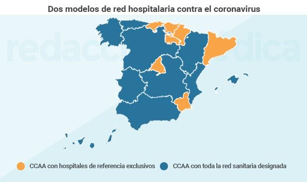 Los servicios de salud eligen 13 hospitales exclusivos para el coronavirus