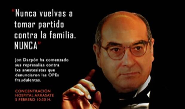 Los sindicatos comparan a Jon Darpón con 'El Padrino'