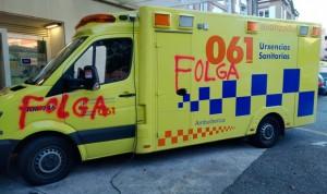 Los trabajadores de ambulancias no dejan la huelga y exigen nuevo convenio