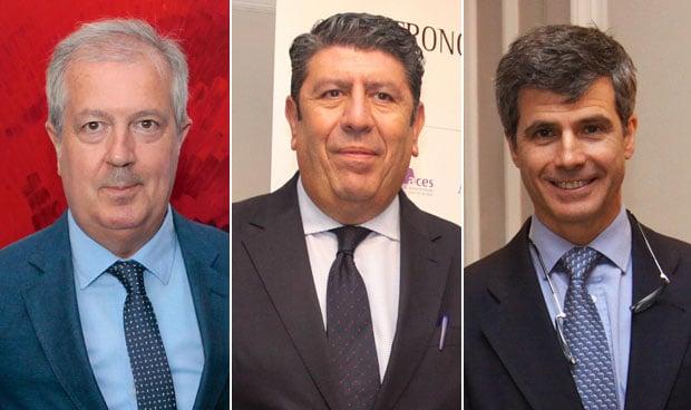 Luis Mayero, Manuel Vilches y Adolfo Fernández-Valmayor