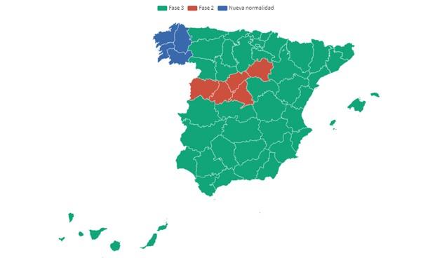 Coronavirus desescalada: provincias que cambian de fase