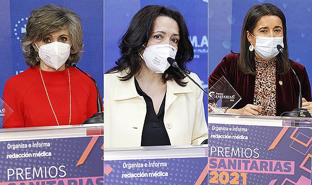 Ganadoras de los Premios Sanitarias en Política, Sociedad Científica y Colegio Profesional