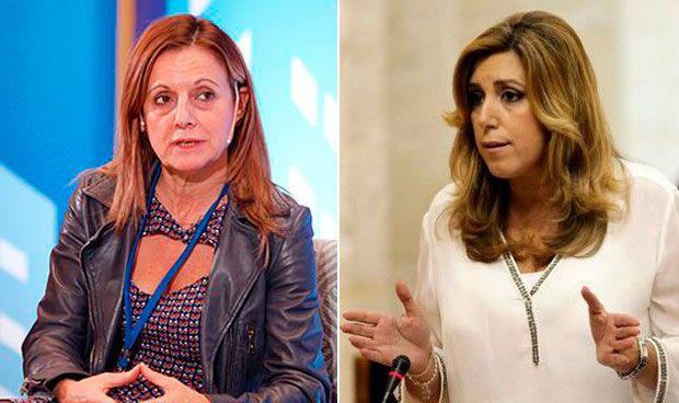 Marina Álvarez y Susana Díaz