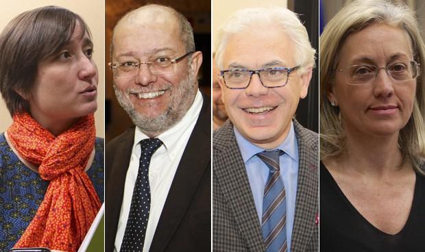 Marta Sibina, Francisco Igea, Jesús María Fernández y Teresa Angulo