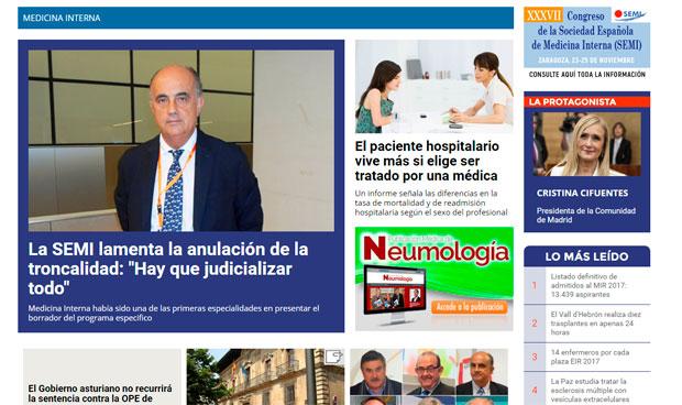 Medicina Interna, protagonista en Redacción Médica