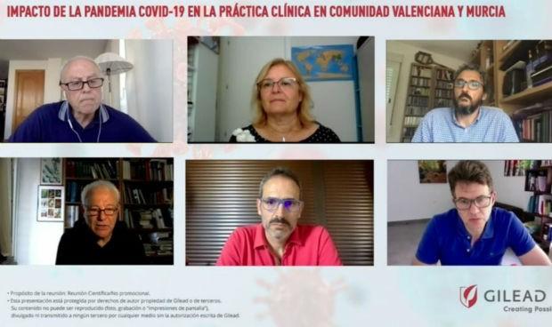 Médicos murcianos y valencianos analizan el abordaje hepático tras el Covid