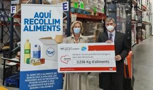Menarini incrementa un 60% su donación al Banco de Alimentos de Barcelona