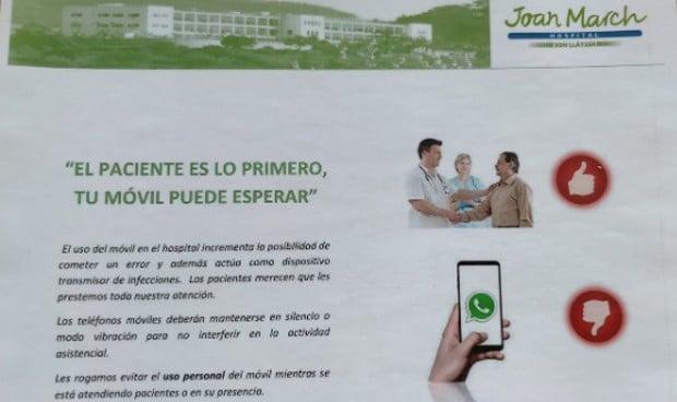 """Mensaje para médicos: """"El paciente es lo primero, tu móvil puede esperar"""""""