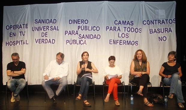 """Mitin sanitario de Unidos Podemos: """"Tener el BOE es tener la Historia"""""""
