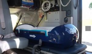 Navarra estrena el traslado sanitario aéreo para bebés en estado crítico