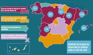 OPE nacional en sanidad, nuevos datos de plazas: 2.808 para Familia en 2018