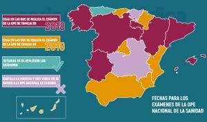 OPE nacional en sanidad: solo 7 CCAA celebran el examen de Familia en 2018