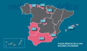 OPE nacional: reveladas todas las plazas médicas en 8 comunidades