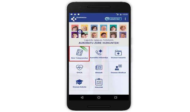 Osakidetza crea una 'App' para implicar al paciente en su tratamiento