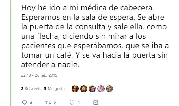 Pacientes sin paciencia: dura queja porque su médico salió a tomar café