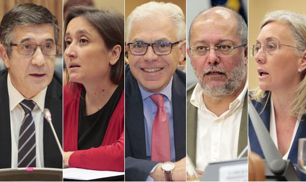 Patxi López, Marta Sibina, Jesús María Fernández, Francisco Igea y Teresa Angulo