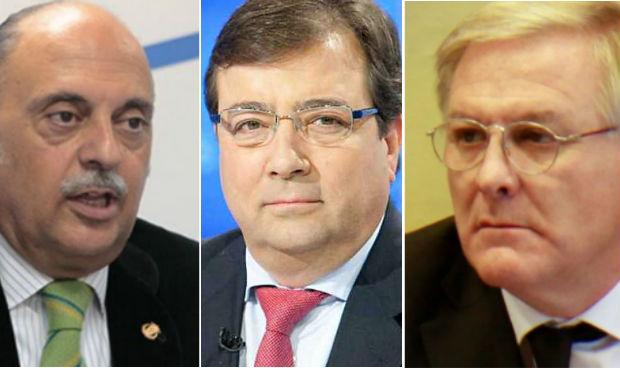 Pedro Hidalgo, Guillermo Fernández Vara y José Alberto Becerra