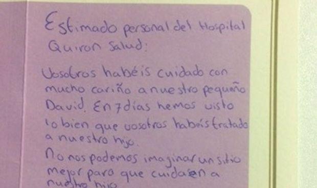 Perder a un hijo recién nacido y sacar fuerzas para dar gracias al hospital