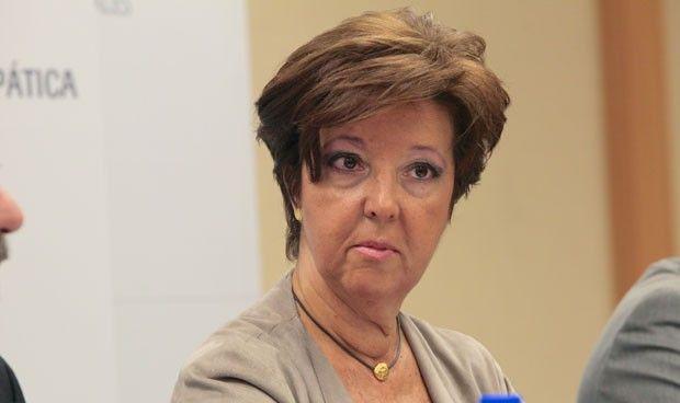 Pillan a Elena Andradas recogiendo los enseres de su despacho