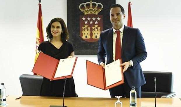 PP y Cs ratifican el reparto de consejerías en Madrid: Sanidad, para el PP