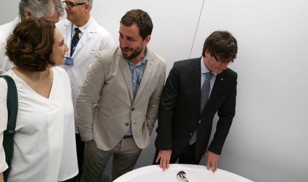 Puigdemont, Colau y Comín inauguran las Urgencias del Hospital del Mar