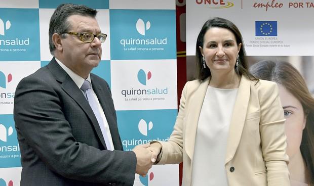 Quirónsalud y la ONCE se asocian para fomentar la inserción laboral