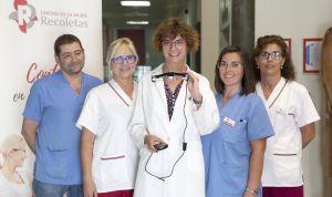 Recoletas utiliza la realidad aumentada en embarazada gracias a unas gafas