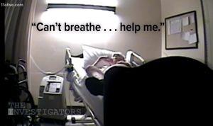 Responden con risas a la petición de socorro de un paciente antes de morir