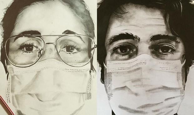 """Retratos en tiempos del coronavirus: """"No son héroes ni tienen superpoderes"""""""