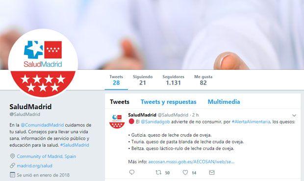 Sanidad crea @SaludMadrid para difundir información sanitaria en Twitter