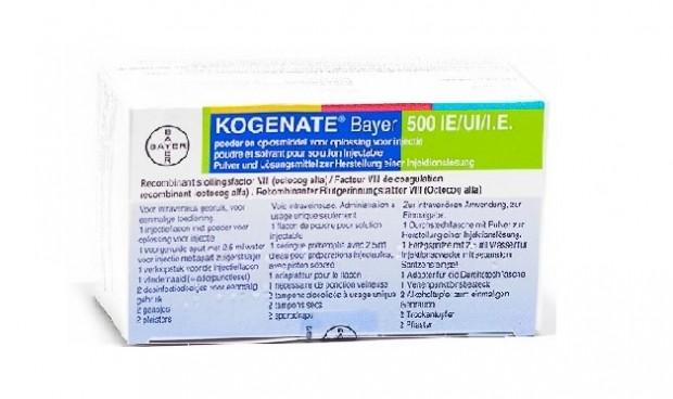 Sanidad retira lotes de Kogenate, de Bayer, para la hemofilia A
