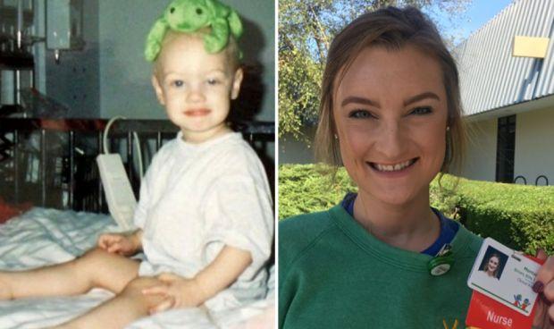 Sobrevive a dos cánceres y ahora es enfermera en el hospital que la trató