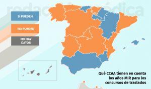 Solo siete CCAA valoran el MIR en sus concursos de traslados de médicos