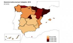 El sueldo medio de la sanidad española sube 775€ (3%) y llega a 26.851/año