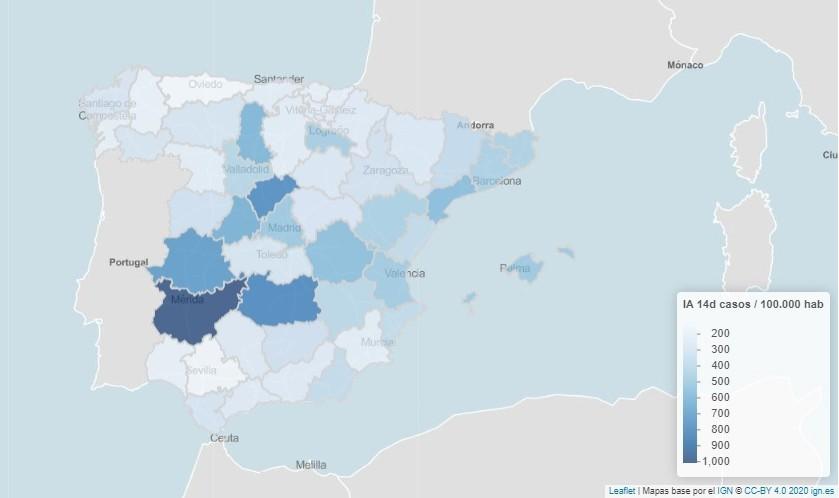 Tercera ola Covid: la incidencia ya supera los 1.000 casos en una provincia