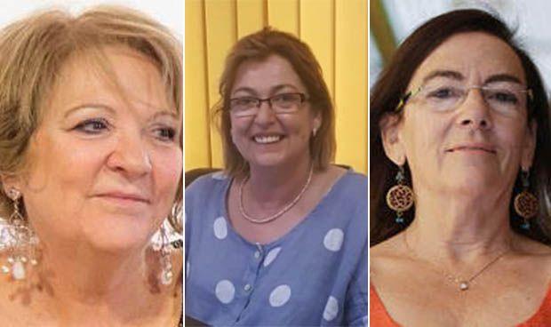 Teresa Patiño, Pilar Díaz y Carmen Orte