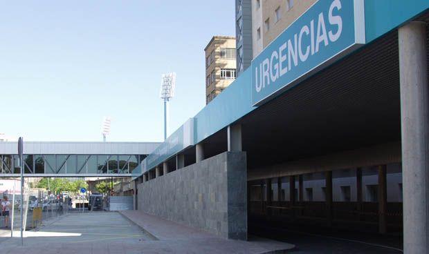 Tranquilidad en los pasillos del hospital más polémico de Aragón