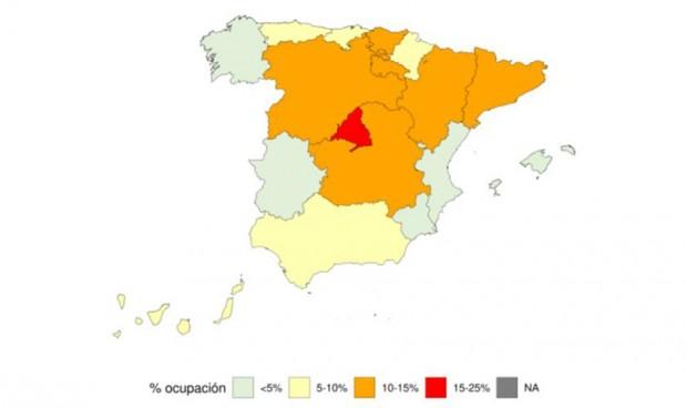 Tres provincias españolas se 'olvidan' del Covid en sus UCI