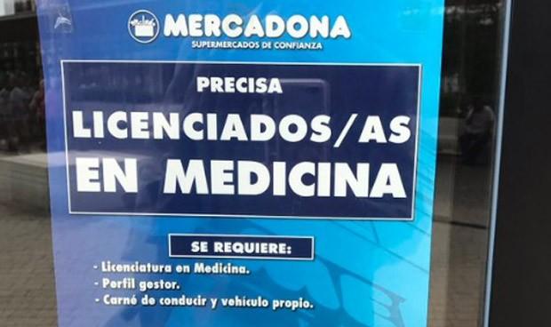 Un médico en Mercadona gana 25.528 euros más al año que un reponedor