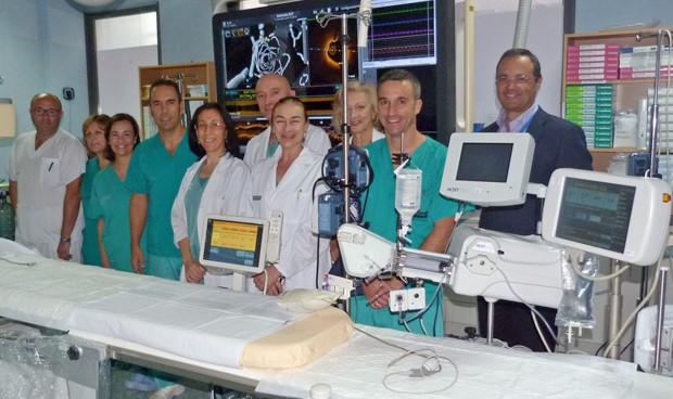 Un nuevo equipo hemodinámico del San Juan irradia un 80% menos al paciente